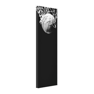 Vertical Basketball Wrapped Canvas