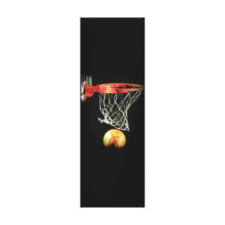 Vertical Basketball Wrapped Canvas Canvas Print