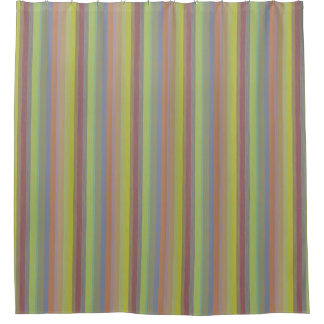 Vertical Beachy Stripe Shower Curtain