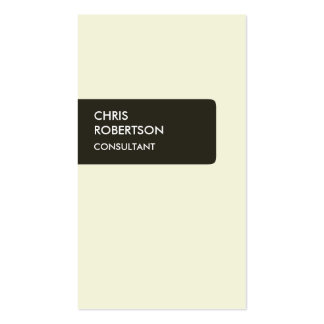 Vertical Beige Color Attractive Business Card