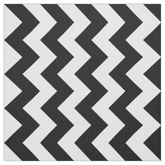 Vertical Black and White Zigzag Pattern Fabric