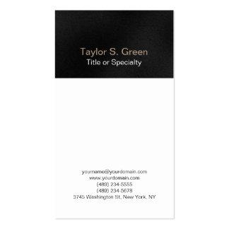 Vertical black grey white professional modern business card