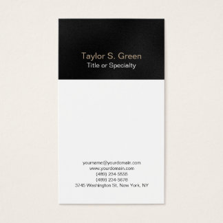 Vertical black grey white professional modern business card