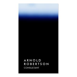 Vertical black unique professional business card