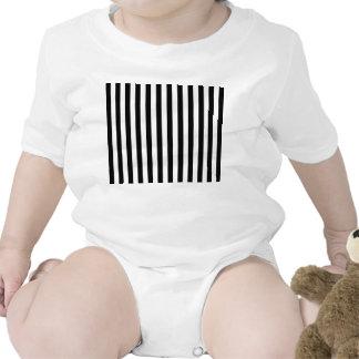 Vertical Black & White Classic Stripes Baby Bodysuits