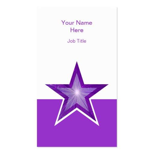 Vertical blanca púrpura púrpura de la tarjeta de tarjetas de visita