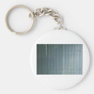 Vertical Blinds Pattern Basic Round Button Keychain