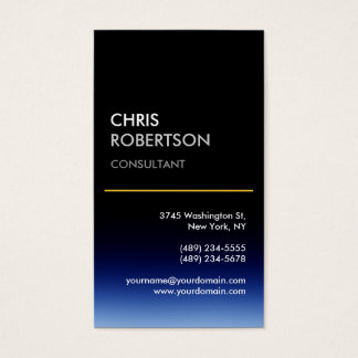 Vertical Blue Black Attractive Business Card