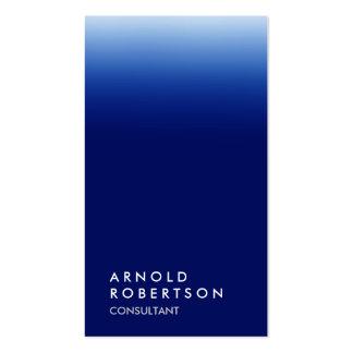 Vertical blue unique professional business card