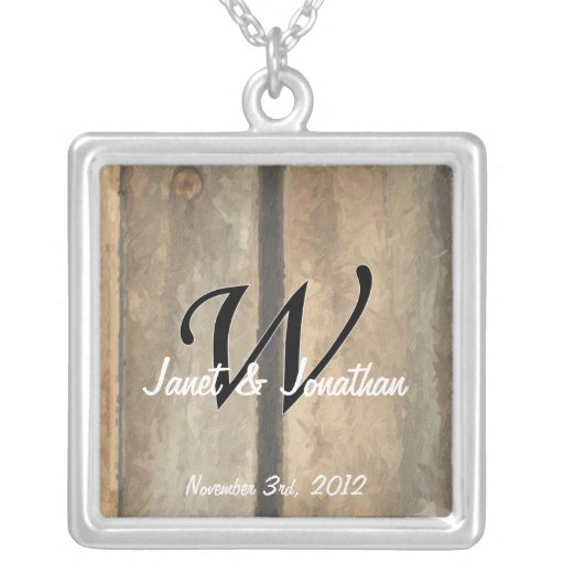 Vertical Boards Impasto Personalized Necklace
