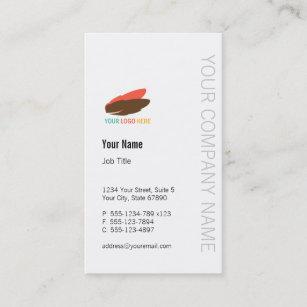 No minimum business cards templates zazzle vertical business logo modern custom professional business card reheart Gallery