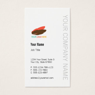 Vertical business logo modern custom professional business card