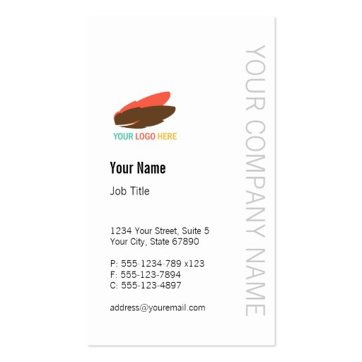 Vertical business logo modern custom professional business cards