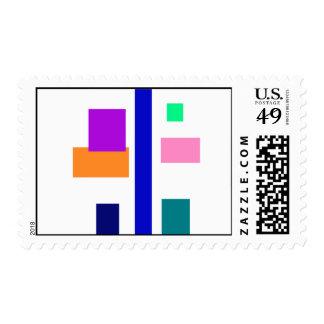 Vertical Calmness Postage Stamp