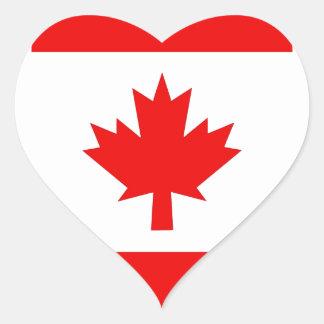 Vertical Canadian Flag Heart Sticker