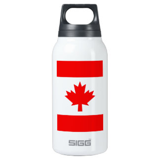 Vertical Canadian Flag Insulated Water Bottle