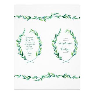 Vertical Ceremony Program Olive Laurel Leaf Wreath Flyer
