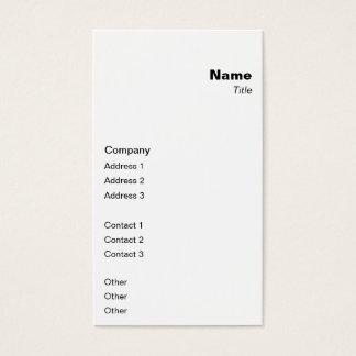 Vertical Classic Business Card