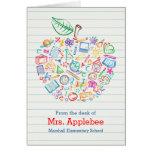 Vertical colorida de la tarjeta de nota de Apple d