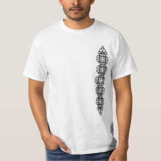 Vertical Corroded Celtic Knot Strip T-Shirt