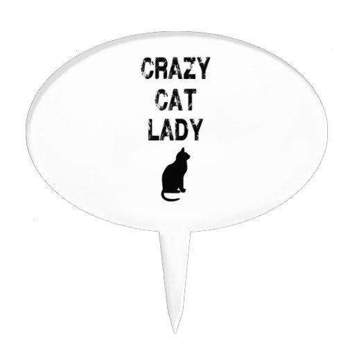 Crazy Cat Lady Cake Topper