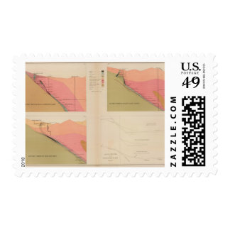 Vertical Cross Sections of the Lode, Belcher Mine Postage Stamp