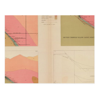 Vertical Cross Sections of the Lode, Belcher Mine Postcard