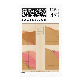 Vertical Cross Sections of the Lode, Utah shaft Postage