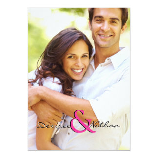 "Vertical Customizable Photo Wedding Invitation 5"" X 7"" Invitation Card"