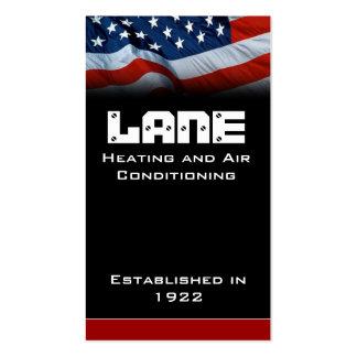 Vertical de la bandera americana tarjetas personales