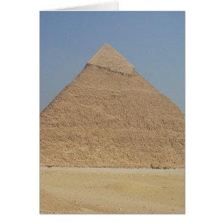 vertical de la pirámide de los khafre tarjeta de felicitación
