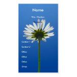 Vertical de la tarjeta de visita de la flor de la