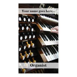 Vertical de la tarjeta de visita del organista