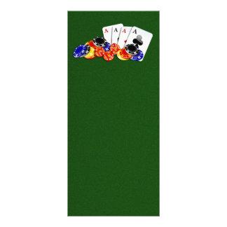 Vertical de la tarjeta del estante del casino tarjeta publicitaria