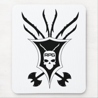 Vertical del escudo del RPG Alfombrilla De Ratones