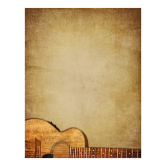 "Vertical del Grunge de la guitarra Folleto 8.5"" X 11"""