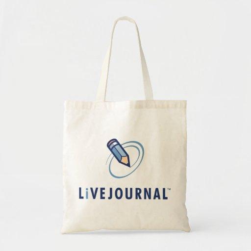 Vertical del logotipo de LiveJournal Bolsa Tela Barata