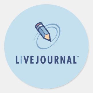 Vertical del logotipo de LiveJournal Etiqueta Redonda