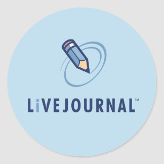Vertical del logotipo de LiveJournal Pegatina Redonda