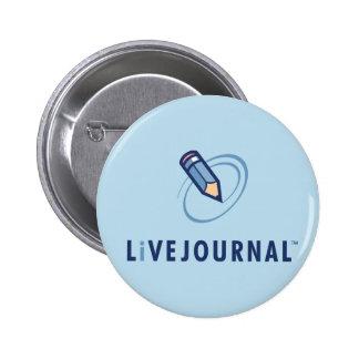 Vertical del logotipo de LiveJournal Pin Redondo De 2 Pulgadas