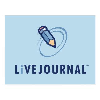 Vertical del logotipo de LiveJournal Postales