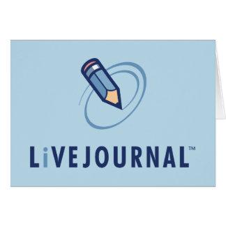 Vertical del logotipo de LiveJournal Tarjeta De Felicitación