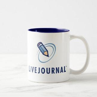 Vertical del logotipo de LiveJournal Taza De Dos Tonos