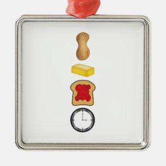 Vertical del tiempo de la jalea de la mantequilla adorno navideño cuadrado de metal