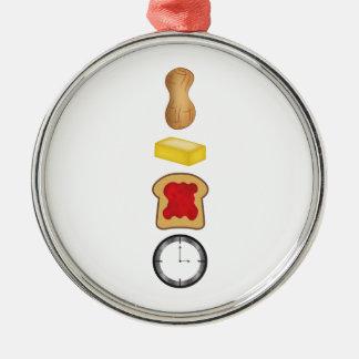 Vertical del tiempo de la jalea de la mantequilla adorno navideño redondo de metal