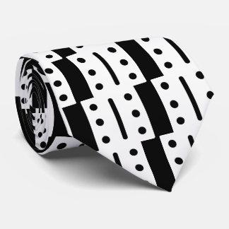 Vertical Dominos Pictograph Tie