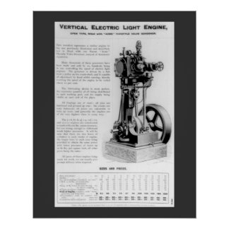 Vertical Electric Light Engine Poster