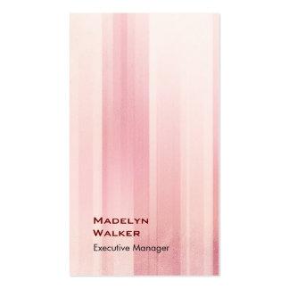 Vertical elegant unique modern pink pattern business card