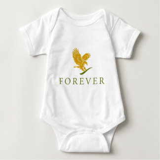 Vertical FOREVER Feathered.png Baby Bodysuit