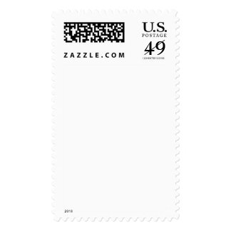 Vertical frameless / borderless blank stamp